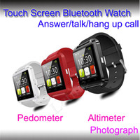 smart watches with Pedometer alarm on iphone - Cheap U8 Bluetooth smart watch mobile phone Speaker G sensor pedometer Alarm Stopwatch Thermometer support Touch Screen for iphone Samsung