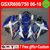 7gifts For SUZUKI GSXR600 GSXR750 08- 10 Factory blue GSXR 60...