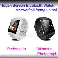 smart watches with Pedometer alarm speakers - 2014 luxury u8 bluetooth smart watch u8 smart watch wristwatch u8 touch screen Speaker G sensor pedometer Alarm Stopwatch