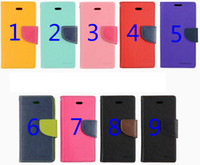 For Apple iPhone Leather Wholesale iphone 5 wallet case mercury wallet case mercury cover samsung galaxy s4 wallet case leather flip leather stand case for samsung s4 i9500