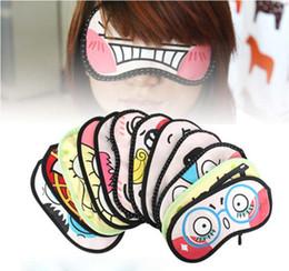 Wholesale EMS Lovely Cartoon Cotton Eye Mask Sleeping Masks Purify Black Rim Keep Eye Healthy Various Patterns K07717