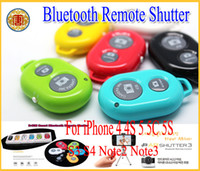 Wholesale wireless Bluetooth Remote photo Camera Control Self timer Shutter for iPhone Galaxy S4 S3 Note3 Android Smart phone