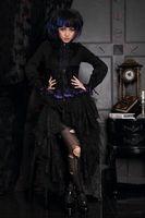 Chiffon alternative skirt - RQ BL Alternative Gothic Clothing Cosplay Lace Skirt