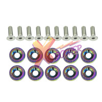 Wholesale Xpower Password JDM Fender Washers set NEO CHROME washers and bolt mm Lisence Plate Bolts Kits for HONDA CIVIC ACCORD