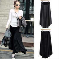Cotton Long  Retail!HT591,Spring summer new women clothing succinct black gray big skirts full cotton long women skirt,free shipping