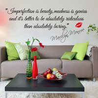Removable beauty quote - Impersonation Is Beauty Monroe Quotes Vinyl Wall Decal Sticker Decor
