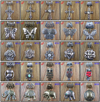 animal charms - 50PCS Hot Selling Fashion Designs Mixed DIY Necklace Jewellery Scarf Findings Accessory Charm Cross Animal Pendant Set