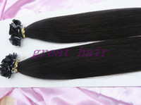 Brazilian Hair Natural Color Straight soft HOT SALE !!!!!!! flat tip #1#1B#2#4#22#60human VIRGIN remy HUMAN hair extension 100strands pack 3packs lot FULL HEAD free shipping