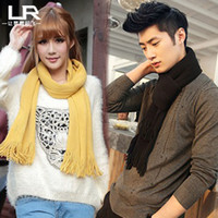 Cheap girl dress Autumn and winter lovers male scarf long thick knitted scarf muffler women's cashmere yarn scarf