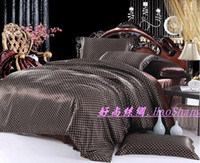 Silk / Cotton Knitted Plain FREE SHIPPING hot sale jacquard silk bedding set king brand design printed Luxury duvet cover sets new arrival Bed Cover