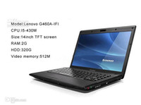Wholesale 2014 Promotion Top Quality Laptop PC Lenovo G460A IFI Dual Core Intel I5 inch Laptop PC GB RAM GB HDD Notebook Computers