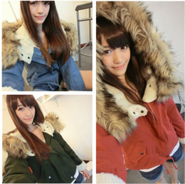 Wholesale 2014 New Fashion Women s Ladies Designer Winter Coats Warm Thick Long Sleeve Faux Fur Hooded Zipper Fleece Jacket Coat Parka Outwear G0285