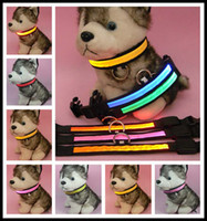 Chirstmas led glow products - New Pet Dog Cat LED Glow Collar Nylon Electric Training Collars Products for Dogs Colors Size S M L XL