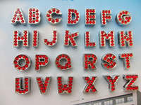 Wholesale 8MM English Alphabet A Z full rhinestone red slide letters charm diy accessories fit pet dog collar women bracelet