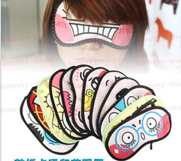 Wholesale Fashion Hot EMS Lovely Cartoon Cotton Eye Mask Sleeping Masks Purify Black Rim Keep Eye Healthy Various Patterns