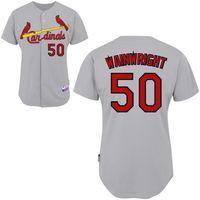 Wholesale Cardinals Baseball Jerseys Hot Adam Wainwright Grey Cool Base Jersey St Louis Team New Jersey Cheap Jerseys Baseball Uniforms