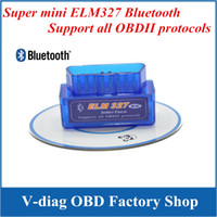 Wholesale works on Android Torque super ELM327 v2 Mini ELM Bluetooth OBDII OBD II OBD2 Protocols Auto Diagnostic Tool super mini elm327 freeship