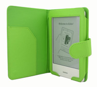 Wholesale Multi color Folio PU leather cover case for Kobo touch ereader