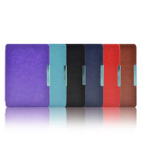 Wholesale Retail smart slim case magnetic hard leather cover case for Kobo touch ereader