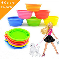 Wholesale Foldable Collapsible Pet Dog Silicone Travel Bowl Dog Feeder Dod Dishes Non Toxic Colors