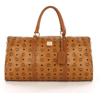 Totes cheap branded bags - Men brand MCM travel bags Cheap designer bags with offwhite featured signs print Boston bags for unisex atmospheric style