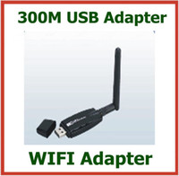 Wholesale 50pcs Mbps M Wireless WIFI USB Adapter with External Antenna LAN Network Card Signal Receiver Transmitter DHL