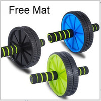 fitness equipment - Abdominal Wheel Ab Roller With Mat For Exercise Fitness Equipment Drop Shipping