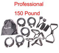 Wholesale 100 LB Set Fitness Resistance Bands Exercise Tubes Elastic Training Rope Yoga Pull Rope Pilates Cordages Express Shipping