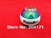Wholesale ALC LED PowerBall Power Gyroscope Wrist Ball Grip Spin exercise Power Ball with Led light and counter speed meter White band