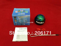 Wholesale 6pcs A PowerBall Power Gyroscope handball Wrist Ball Grip Spin exercise Power Ball lowest price Black band Freeshipping