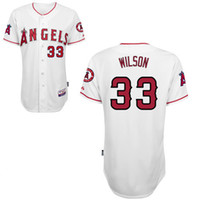 Wholesale Angels Baseball Jersey C J Wilsons Jersey Los Angeles New Authentic Jersey White Home Jersey Cool Base Stitched Outdoor Jersey