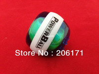 Wholesale 90pcs lowest price CM Powerball Power Gyroscope Wrist Ball Grip Spin exercise Power Ball With Massager White band DHL free