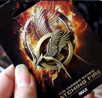 Wholesale European Hot Movie Hunger Games Catching Fire Bird Brooch Pins With Card Package