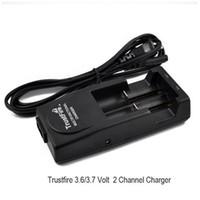Original Trust chargeur incendie trustfire tr-001 multifonctionnel rechargeable US EU UK AU charge pour 16340 17670 18500 18650 batterie au lithium DHL