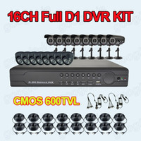 Wholesale CCTV TVL CMOS IR Camera CH FULL D1 H Cloud DVR Security System Real time DVR Recorder With HDMI Output