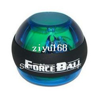 Wholesale AL LED Forceball Power Gyroscope handball Wrist Ball Grip Spin exercise Power Ball with Led light Black band Freeshipping
