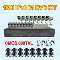 Wholesale Home CCTV Security CH H Network DVR System Full D1 With VGA HDMI Output CMOS TVL Outdoor IR Camera
