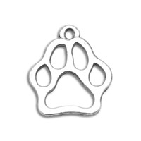Wholesale a alloy antique silver plated animals series paw print charms