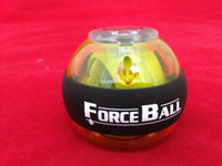 Wholesale lowest price AC Forceball Power Gyroscope handball Wrist Ball Grip Power Ball with counter speed meter Black strip DHL