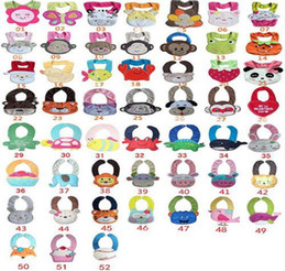Wholesale 61 designs Cater s Baby Bibs layer waterproof D Cartoon Animals BIBs Infant Animal Baby Baby Bibs Burp Cloths bibs