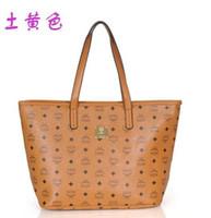 Wholesale 2014 ladies New Fashion Shopping Bag MCM Vistos Cognac women bag HERITAGE Reversible designer handbags bolsas clutch Totes