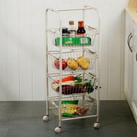Wholesale Multifunctional shelf trolley square hand basket i shape glove storage rack