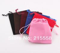 Wholesale x9cm Christmas Wedding Velvet Gift Bag Drawstring Bag Jewelry Packing Gift Pouch Drawstring Pouch ZBG02