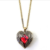 Wholesale N132 silver fashion jewelry chains necklace silver pendant Every heart card Min order is mix order