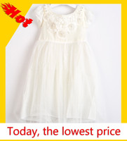 Wholesale 2014 Newest Summer Infant Girl Princess Dress Black and Beige Color Girls Floar Children Party Dress Baby Clothes GD21115 HK