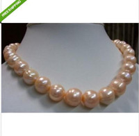 Wholesale REAL best mm pink SOUTH SEA BAROQUE PEARL NECKLACE inch k