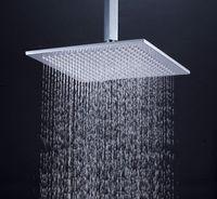 "Cheap 12"" brass overhead shower chrome shower head with shower arm"