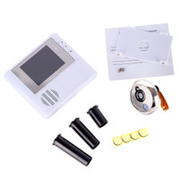 Wholesale 2GB Digital Peephole Doorbell M Night Vision Video Record Home Security White freeshipping