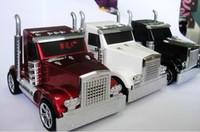Wholesale New Truck Car Shaped design Mini portable Speaker Music MP3 USB speaker with FM radio High Quality DHL
