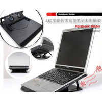 Cheap Rotating dual fan adjustable usb laptop radiator folding lift mount 009